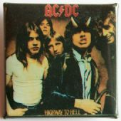 AC/DC - 'Group Highway to Hell' Square Badge